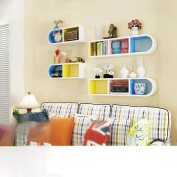 Colour wall living room corner shelf wall shelf study creative partition bedroom storage rack