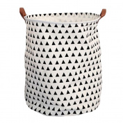 Large Storage Bin, niceEshop(TM) Cotton/Canvas Storage Basket With Handles for Nursery or Kids' Room- Toy Box/ Toy Storage/ Toy Organiser for Boys and Girls - Laundry Basket/ Nursery Hamper