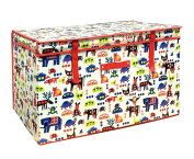 Large Childrens Storage Chest Kids Laundry Toy Clothes Storage Tidy Box Animals Wilsons Direct