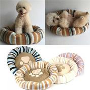 Bazaar Round Pet Dog Puppy Cat Beds Soft Warm Fleece House Cushion Mat Basket Kennel Pad
