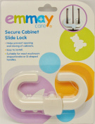 Emmay Baby Children Safety Secure Cabinet Door Slide Locks Sliding Hook Pack