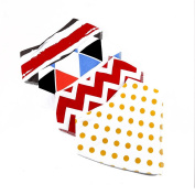 PetHot Bibs for Baby Saliva Dribble Soft Skin-friendly Cute Colourful Speckle Wave Triangle 4 PCS