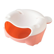 SELLIFY Fruit Bowl Lemorange Plastic Double Layered Dry Fruit Candy Snack Storage Box Plate Dish Tray With Mobile Phone Stents