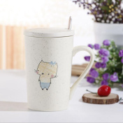Aoligei Japanese-style minimalist ceramic cup filled with mug cup 301-400ml