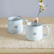 Aoligei Simple pure hand-painted glass simple mug ceramic home cup 250ml