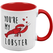 Valentine's Day - You're My Lobster All Over Coffee Mug White-Red Standard One Size