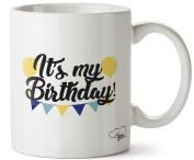 Hippowarehouse It's my birthday yellow printed mug cup ceramic 300ml