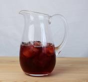 Transparent, Clear Glass Water Jug & Handle | Vase 19 cm high 1 litre