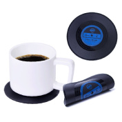 Homyl Drink Coasters, Rockabilly Vinyl Coaster Set - Protect Furniture From Water Marks & Damage