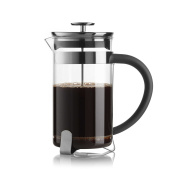 French Press Coffee Maker Stainless Steel and Glass, 350ml Capacity