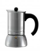 Lagostina T9910464 Stainless Steel Espresso Coffee Maker, 6-Cup, Silver