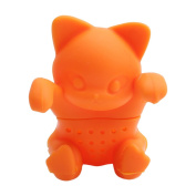 LALANG Cute Cat Silicone Tea Filters Diffuser Loose Tea Leaf Strainer Herbal Spice Filter