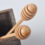 Zehui Honey Stirring Stick Creative Beech Honey Stirring Stick Wooden Jam Muddler Kitchen Tool 1Pcs