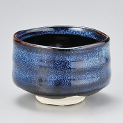 Mino Japanese Tea cup Matcha Bowl Namako Navy Y1745 From Japan