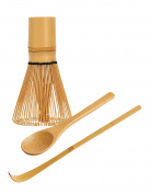 Traditional Japanese Matcha Tea Whisking Set, Handcrafted Bamboo Chasen, Chashaku Tea Scoop and Mini Bamboo Tea Spoon, Helen's Asian Kitchen