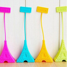 Silicone Tea Strainer - 1 Piece Silicone Tea Bag Eiffel Tower Loose Infuser Strainer Herbal Spice Filter - RANDOM colour
