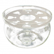 TOOGOO(R) Heat-Resisting Teapot Warmer Base Clear Glass Round Shape Insulation Tealight