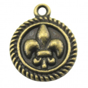 NEWME 35pcs 15mm fleur de lis Charms Pendant For DIY Jewellery Making Wholesale Crafting Handmade Bracelet Necklace Key Chain Bag Accessories