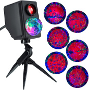 Gemmy Lightshow Projection Plus Slideshow Kaleidoscope Silhouette Happy Holidays / Santa in Sleigh with ReindeerIndoor/Outdoor Holiday Decoration