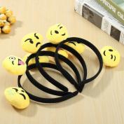 12PCS Emoji Face Ears Headbands Black Party Emoticons Costume Birthday Gift