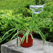 Bird Shaped Glass Plant Flower Holiday Watering Spike Stake Water Feeder
