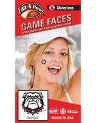 University of Georgia (UGA) – Waterless Peel & Stick Temporary Spirit Tattoos – 4-Piece – Bulldog Head