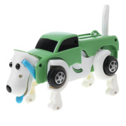 Bettal Clockwork Toy Wind-up Automatic Transform Dog Car Toy Kids Gift
