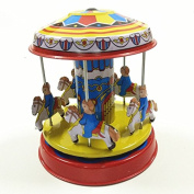 Merry Go Round Wind Up Toy Carrousel Tin Toy