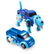 Rokment The Dog Car Transformer Novelty Clockwork Deformable Car New Year Kids Toy