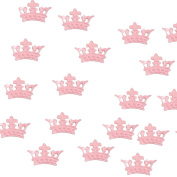 MonkeyJack Lovely Crown Style Table Confetti Sprinkle Baby Shower Christening Party Table Decorations 15g - Pink, as described