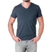 Next Level Men's CVC Combed Baby Rib-Knit V-Neck T-Shirt - Blue -
