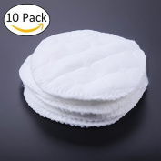 Nursing Pads, 10pcs/Lot Organic Breast Pads Washable Leakproof Ultra soft Feeding Breastfeeding Pad
