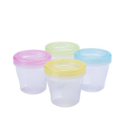 Zhuhaixmy Set of 4 Food Containers Boxes Baby Breast Milk Fresh Storage Pots Homemade Snack Cups