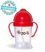 ZoLi - BOT - 180ml straw sippy cup - Red