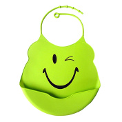 ChenRui(TM)Waterproof Super Soft Silicone Baby Bibs for Babies and Toddlers - 4 Unique Designs Available