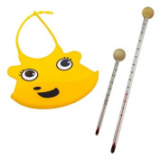 Baby Bib Yellow Baby Bottles and Thermometer Set