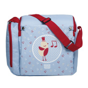 SARO - Maternity bag that converts into a booster seat for babies. It includes a practical baby thermal pocket. Spanish design. Available in 4 fun models