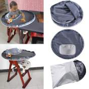 IGEMY New Baby Dinner Mat Cover Waterproof Highchair Bumper Pad Place Mat 75 * 25cm Keep the Floor Clean