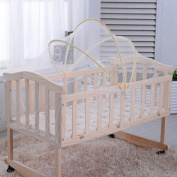 Mosquito Net for Crib, Baby Crib Tent Arched Cradle Bed Mosquito Nets Baby Safety Canopy Cover