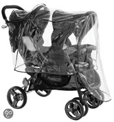 ISI MINI Rain Cover for Back To Back Double Twin Pram and Stroller