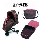 iSafe Visual 3 Stroller Raspberry Cake - Complete With Footmuff, Raincover & Changing Bag
