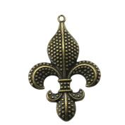 NEWME 5pcs 70x47mm fleur de lis Charms Pendant For DIY Jewellery Making Wholesale Crafting Handmade Bracelet Necklace Key Chain Bag Accessories