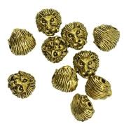 Blesiya 20pcs Lion Head Pendants Charms Beads Novelty Antique Metal Gothic Jewellery
