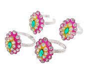 Ghoomar Women Antique Adjustable Toe Rings Silver Plated Foot Rings Jewellery