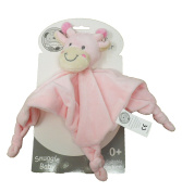 Gorgeous Baby Girls Pink Giraffe Supersoft Plush Velour Baby Comforter With Knotted Corners