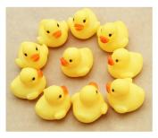 Bath Toys, JoyJay One Dozen (12) Rubber Duck Ducky Duckie Baby Shower Birthday Favours