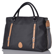 PacaPod Mirano Graphite Designer Baby Changing Bag - Luxury Grey Tote 3 in 1 Organising System