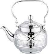 Stovetop Tea Kettle Teapot- Stainless Steel with Key Versa Design- 1.2 LT