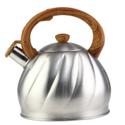 Riwendell Tea Kettle 3l Whistling Stainless Steel Stove Top Teapot