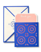 Pink & Purple Laser Cut Pocket Thank You Cards
